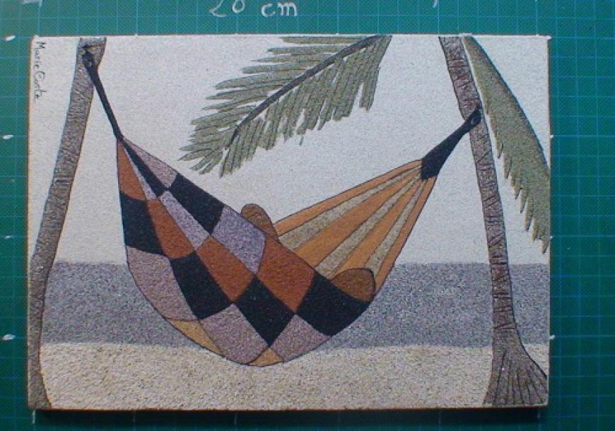 reve de sable, revedesable, tableau de sable guadeloupe, tableau de sable, artisanat guadeloupe