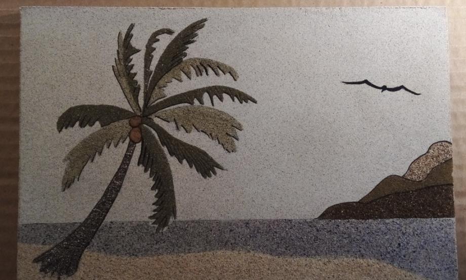 reve de sable, revedesable, tableau de sable, guadeloupe, sable guadeloupe, artisan pointe noire